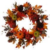 "24"" Pumpkin Wreath"