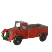 "17.5"" Rustic Truck with Wreath"