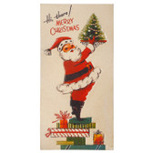 "17.5"" Retro Santa Wall Art"