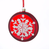 Snowflake Disc Ornament