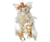 "26"" Hanging Angel with Harp Ornament"