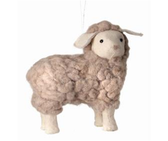 "8"" Wool Lamb Ornament"