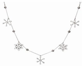 "60"" Threaded Jewel Snowflake Garland"