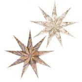 Marble Patterned Star Hanging Pendant (2 asstd)