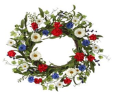 "24"" Daisy & Cornflower Wreath"