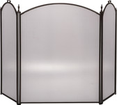 "3 Fold Arched Bronze Screen 32""H x 52""W"