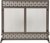 "Bronze Panel Screen with Filigree Design 34""H x 39""W"