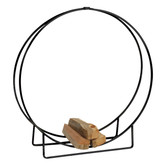 "48"" Dia Black Steel Log Hoop"