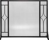 "Black Panel Screen with Diamond Design 31""H x 39.5""W"