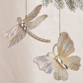 """5"""" Butterfly and Dragonfly Ornament"""