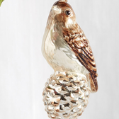 "5"" Bird on Pinecone Ornament"