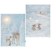 "11.75"" Forest Animal Lighted Print Asst"