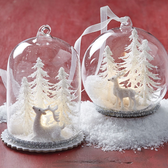 """4"""" Lighted Dome Ornament Asst"""