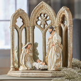 "12.5"" Mirrored Holy Family"