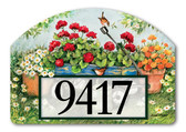Geraniums by the Dozen Yard Design