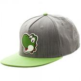 Nintendo Yoshi Rubber Sonic Weld Gray/Green Snapback