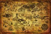Zelda – Hyrule Map Poster
