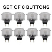 Sanwa 8pcs OBSC-30 CLEAR BUTTONS