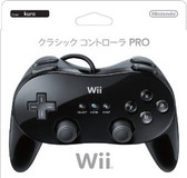 WII CLASSIC CONTROLLER PRO BLACK