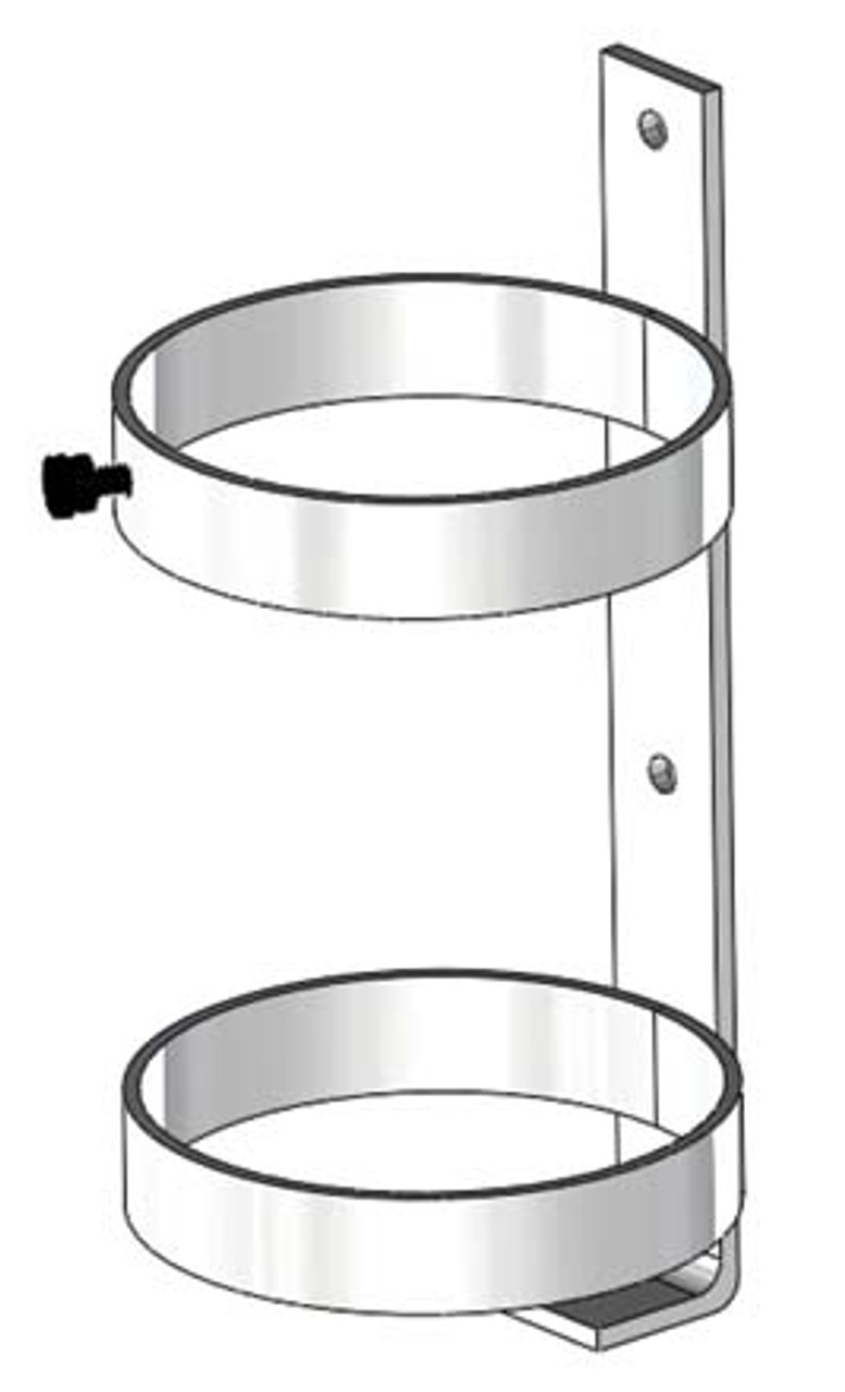 SINGLE CYLINDER WALL MOUNT FOR D OR E STYLE OXYGEN CYLINDER