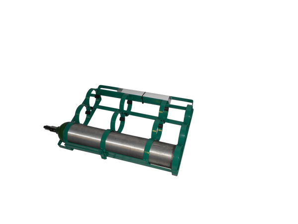 "3 CYLINDER CAPACITY CAR RACK FOR D OR E (4.38"" DIA.) OXYGEN CYLINDERS"