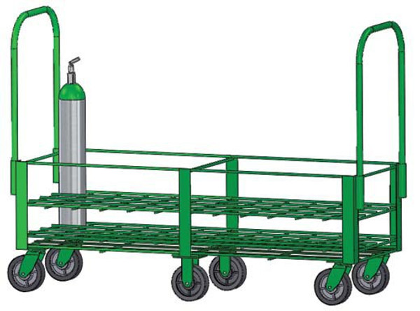 """FWF D or E Type Cylinder 32 HEAVY DUTY W/6""""CASTERS G"""