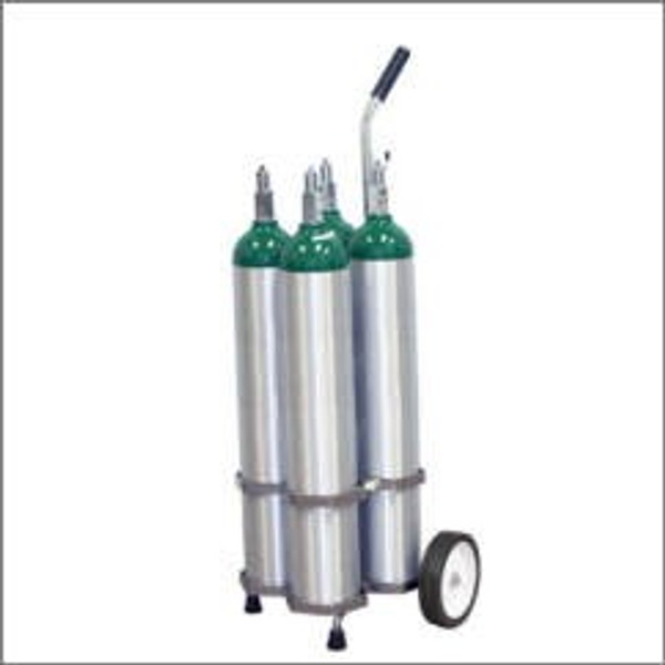 "4 CYLINDER CAPACITY ADJUSTABLE OXYGEN CART FOR 4 JUMBO D/M22 (5.25"" DIA.) OXYGEN CYLINDERS"