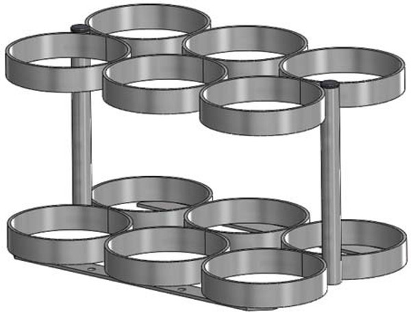"""FWF MM/8.25"""" DIA. RACK FOR 6 Cylinder"""
