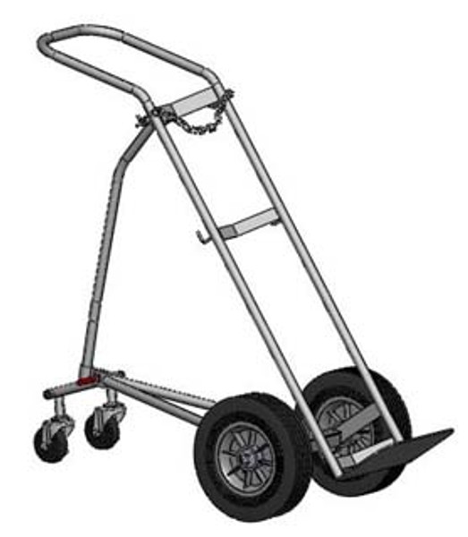"LARGE CYLINDER HAND TRUCK FOR H OR T (9.25"" DIA.) STYLE CYLINDERS"