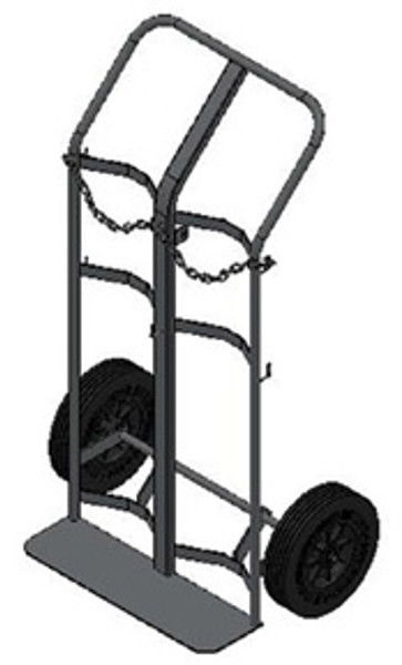 "DUAL CAPACITY LARGE CYLINDER HAND TRUCK FOR M90 AND H/T (7.25"" -9.25"" DIA.) STYLE CYLINDERS"