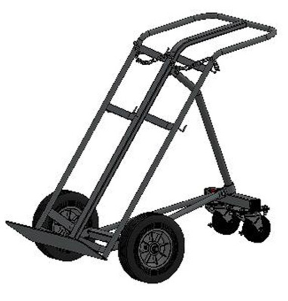 "DUAL CAPACITY LARGE CYLINDER HAND TRUCK FOR 2 H OR T (9.25"" DIA.) STYLE CYLINDERS"