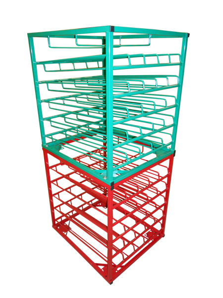 FWF LAYERED  HORIZONTAL STACKING RACK WITH DOOR FOR 25 D  Cylinder