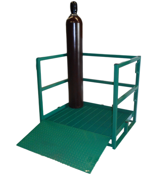 OXYGEN CYLINDER TRANSPORT RACK HOLDS 12 H OR T STYLE CYLINDERS