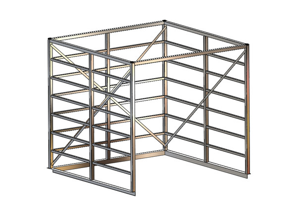 FWF Truck bed cage - holds tires in the back of a truck