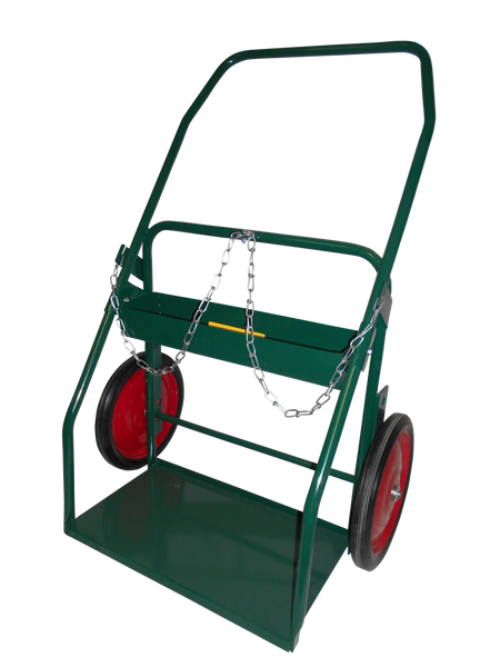 Radnor® Model 314-27 Continuous Handle Cylinder Cart With Semi Pneumatic Wheels With Ball Bearings