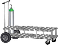 "Oxygen Cylinder Cart For 40 D or E (4.38"" DIA) Style Oxygen Cylinders (1082)"