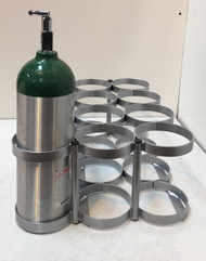 "Oxygen Cylinder Rack For 12 D or E (4.38"" DIA) Style Oxygen Cylinders (1105)"