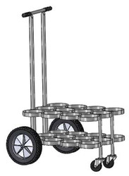 "FWF JUMBO ""D"" CylinderS 12 Capacity Cart"