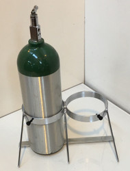 "Oxygen Cylinder Floor Stand for Two Jumbo D/M22 (5.25"" DIA) Oxygen Cylinders (1136-2)"