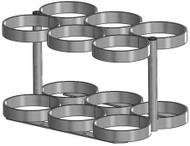 "Oxygen Cylinder Rack for Six M60 (7.25"" DIA) Oxygen Cylinders (1141-6)"