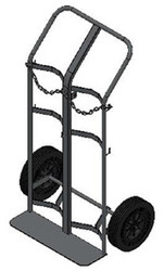 "Dual Capacity Cylinder Hand Truck/Dollie for H or T (7.25"" - 9.25"" DIA) Cylinders (1222)"