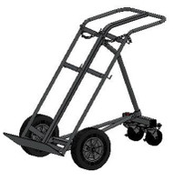 "Dual Capacity Cylinder Hand Truck/Dollie With Rear Mounted Stabilizers for H or T (7.25"" - 9.25"" DIA) Cylinders (1225)"