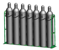 "Vertical Warehouse Rack for Eight M250, H or T (9.25"" DIA) Cylinders (1239-2x4)"