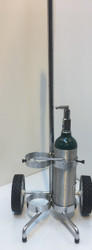 "Adjustable Oxygen Cart For Two M6 (3.20"" DIA) Oxygen Cylinder (2055)"