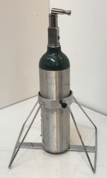 "Oxygen Cylinder Floor Stand Holds One M6 (3.20""DIA) Oxygen Cylinders (2084)"