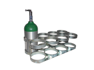 "Oxygen Cylinder Rack for Eight ML6 (4.38"" DIA) Style Oxygen Cylinders (4100)"