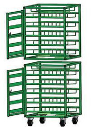 Layered Horizontal Rack with Door for 98 M6 Cylinders (6521D)