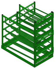 FWF LAYERED MULTI-Cylinder  RACK FOR 20 Cylinder  (12D-E/8M6)
