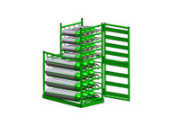 Layered Multi Cylinder Rack with Door for 12 D/E and 12 M6 Cylinders (6614D)