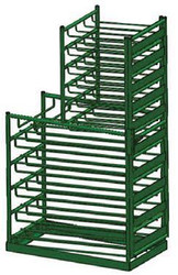 Layered Multi Cylinder Rack with Door for 15 D/E and 20 M6 Cylinders (6615D)